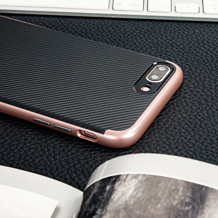 have done olixar x duo iphone 7 case carbon fibre rose gold