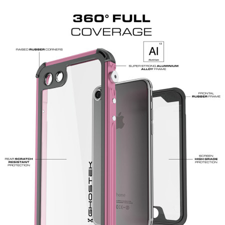 Ghostek Atomic 3.0 iPhone 7 Waterproof Tough Case - Pink