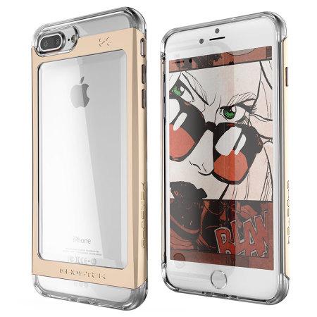 was ghostek cloak iphone 7 plus aluminium tough case clear gold teachers