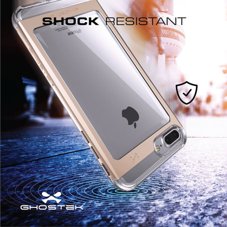 one ghostek cloak iphone 7 plus aluminium tough case clear gold really