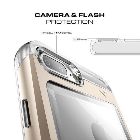 ghostek cloak iphone 7 plus aluminium tough case clear black