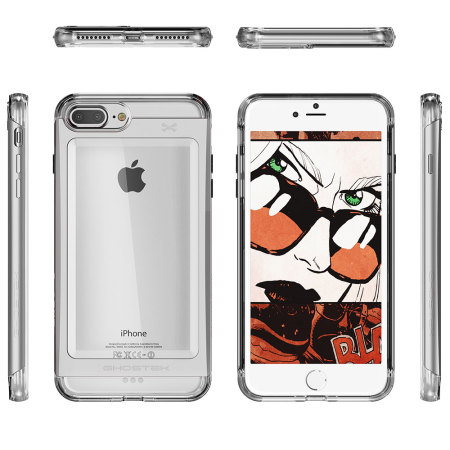 Ghostek Cloak iPhone 7 Plus Aluminium Tough Case - Clear / Silver