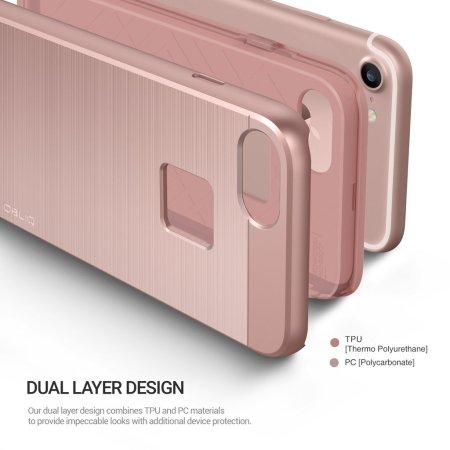 Obliq Slim Meta iPhone 7 Case Hülle in Rose Gold