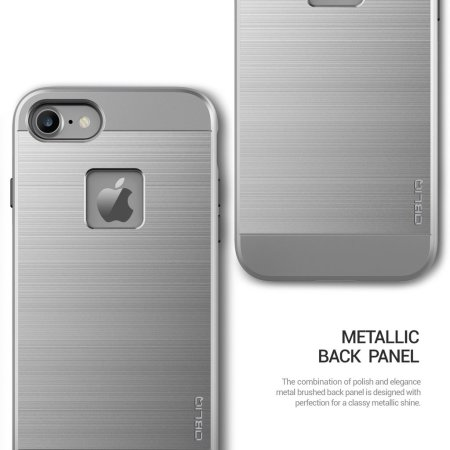 Coque iPhone 7 Obliq Slim Meta – Argent titane