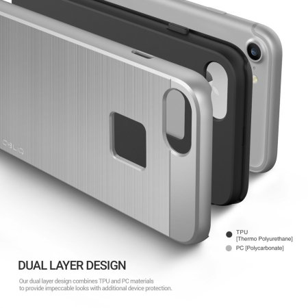 Obliq Slim Meta iPhone 7 Case - Silver Titanium