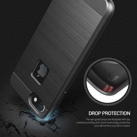 Obliq Slim Meta iPhone 7 Case Hülle in Schwarz Titanium