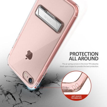 Obliq Naked Shield iPhone 7 Kickstand Case - Rose Gold