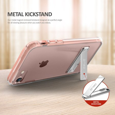 obliq naked shield iphone 7 kickstand case rose gold stainless steel