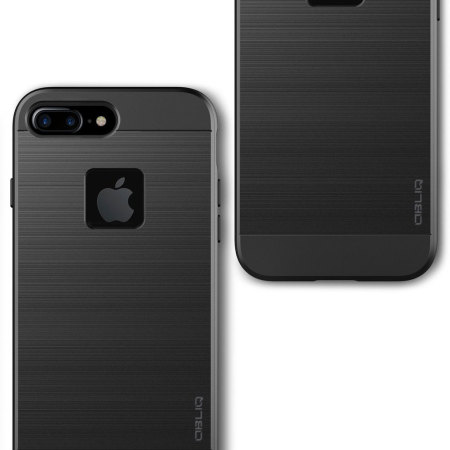 Obliq Slim Meta iPhone 7 Plus Case - Black Titanium