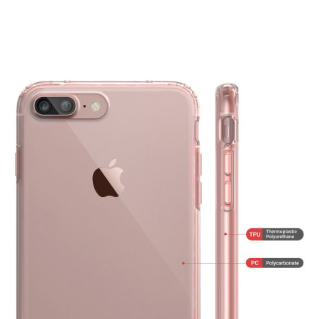 Obliq Naked Shield iPhone 7 Plus Case , Rose Gold