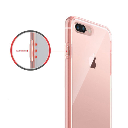 iphone 7 plus rose gold. obliq naked shield iphone 7 plus case - rose gold iphone