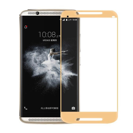 Olixar ZTE Axon 7 Tempered Glass Screen Protector - Gold