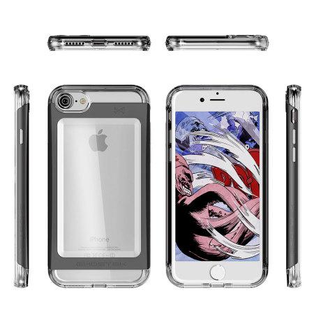 Ghostek Cloak 2 Series iPhone 7 Aluminium Tough Case - Clear / Black