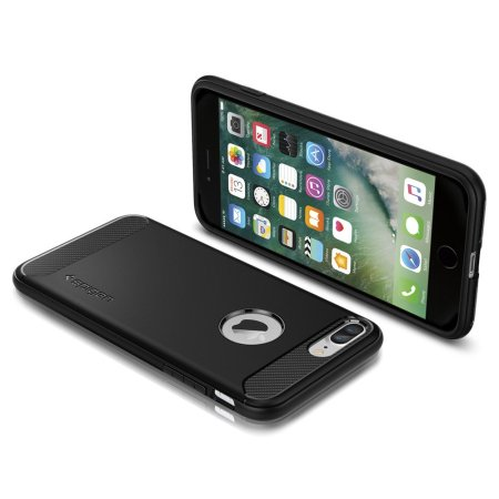 Spigen Rugged Armor iPhone 8 Plus / 7 Plus Case - Black