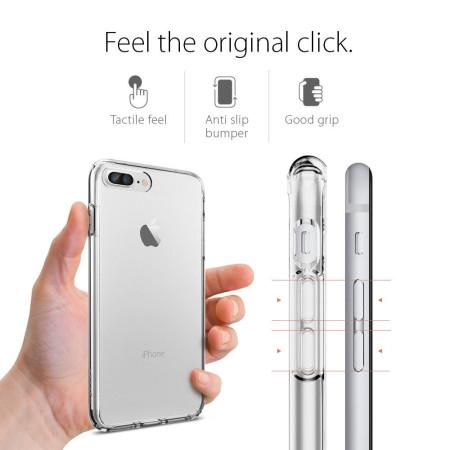 pretty nice b2d43 613ca Spigen Ultra Hybrid iPhone 7 Plus Bumper Case - Crystal Clear