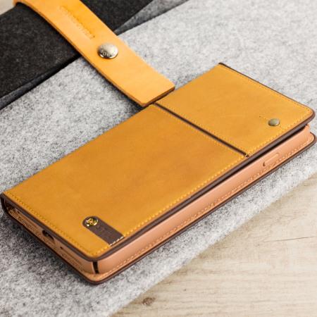 STIL Toscano Wine Genuine Leather iPhone 7 Plus Wallet Case - Camel baf521784