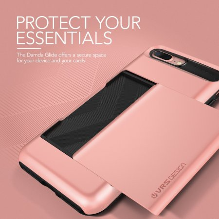 newest a2eaa 1f57d VRS Design Damda Glide iPhone 8 Plus / 7 Plus Case - Rose Gold
