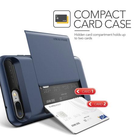 VRS Design Damda Glide iPhone 8 Plus / 7 Plus Case - Steel Blue