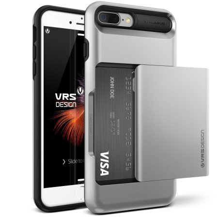 VRS Design Damda Glide iPhone 8 Plus / 7 Plus Case - Light Silver
