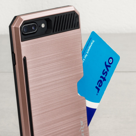 zizo metallic hybrid card slot iphone 7 case rose gold are eligible for