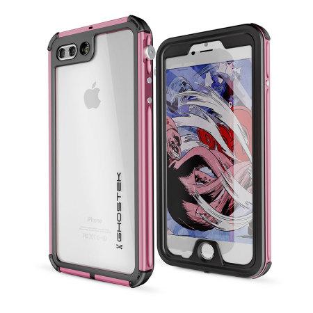water ghostek atomic 3 0 iphone 7 plus waterproof tough case pink the factory