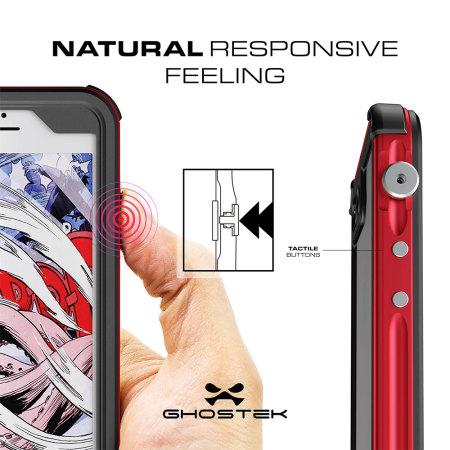 ghostek atomic 3 0 iphone 7 plus waterproof tough case red you