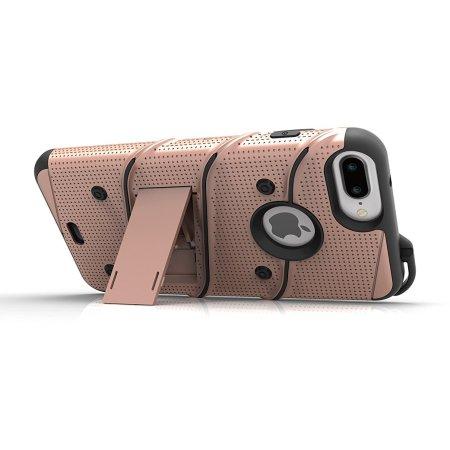 zizo bolt series iphone 7 tough case belt clip gold black