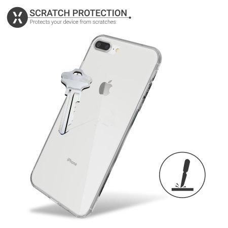 Funda iPhone 7 Plus FlexiCover protección completa- Transparente