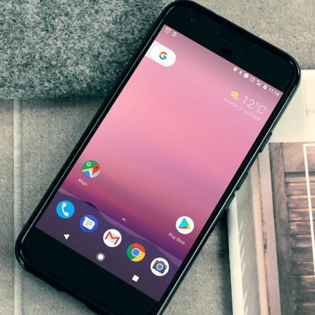 standard olixar flexishield google pixel gel case solid black value