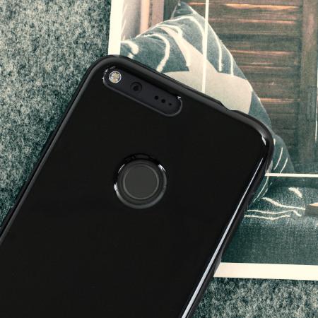 the olixar flexishield google pixel gel case solid black can also find