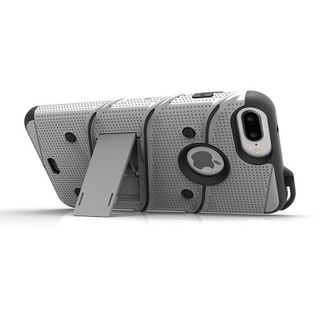 Zizo Bolt Series iPhone 7 Plus Tough Case & Belt Clip - Grey