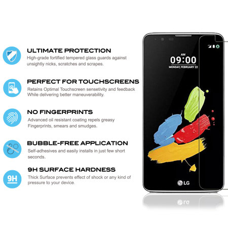 Zizo Lightning Shield LG Stylo 2 Plus Tempered Glass Screen Protector