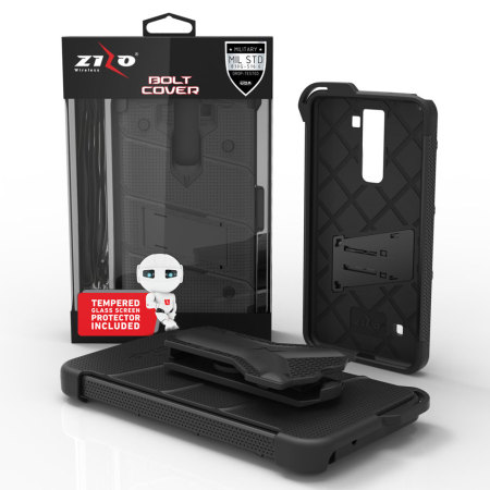 lg stylo 2 cases. zizo bolt series lg stylo 2 plus tough case \u0026 belt clip - black lg cases 5