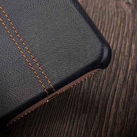 Olixar Premium Genuine Leather iPhone 7 Plus Case - Black