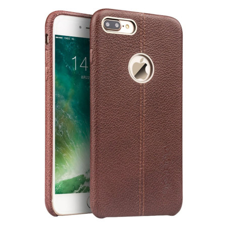 best sneakers dc233 ff4a1 Premium Genuine Leather iPhone 7 Plus Case - Brown