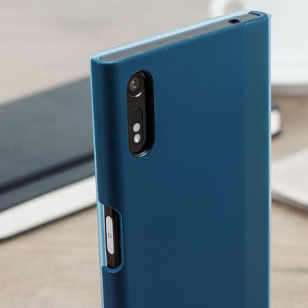 official sony xperia xz style cover touch case   forest blue