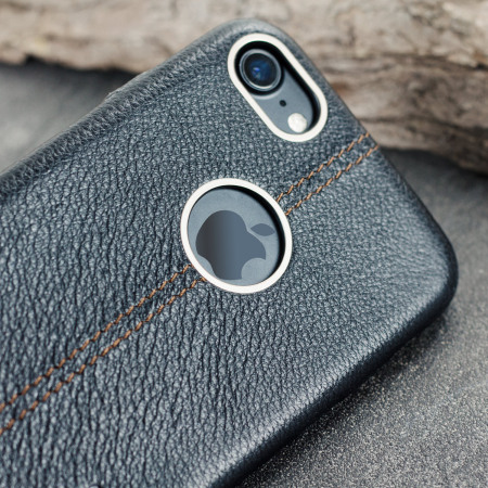 Premium Genuine Leather iPhone 7 Case - Black