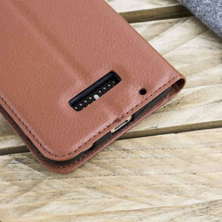 misprint notice olixar leather style motorola moto z wallet stand case brown the day