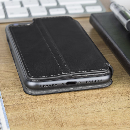 iphone 8 case black leather