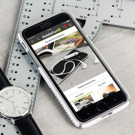 buy online 9fc4c 892a6 Speck Presidio Grip iPhone 8 / 7 Tough Case - White