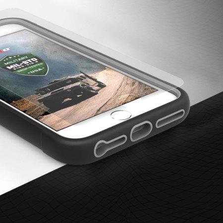 Zizo Proton iPhone 7 Tough Holster Case - Black / Clear