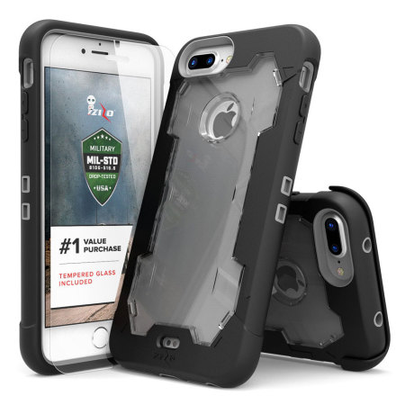 Zizo Proton iPhone 7 Plus Tough Holster Case - Black / Clear