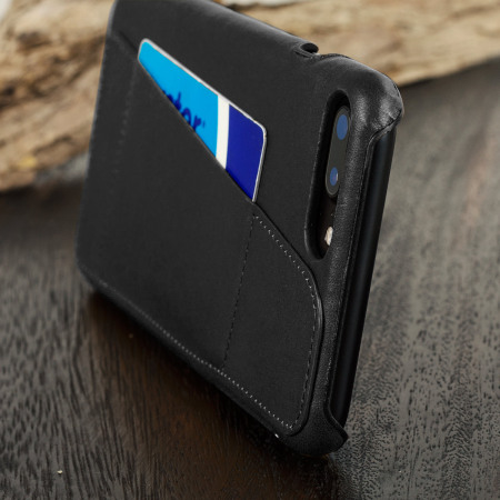 Mujjo Leather-Style iPhone 7 Plus Wallet Case - Black