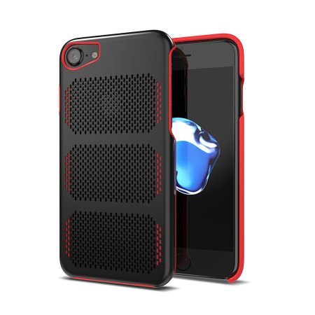 IOM Extreme GT iPhone 7 Stainless Steel Case - Black / Red