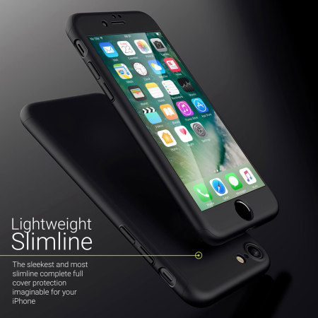 olixar xtrio full cover iphone 7 case - black