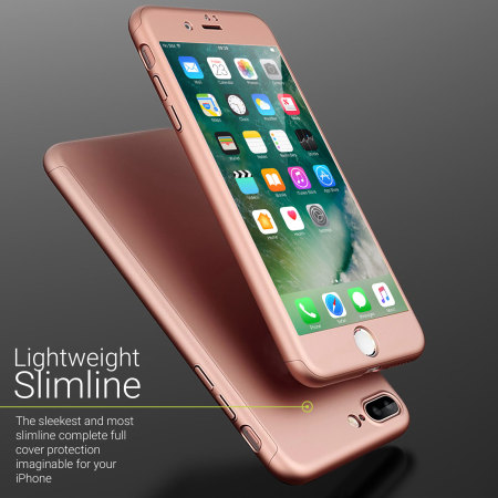 Olixar X-Trio Full Cover iPhone 7 Plus Case - Rose Gold 93f5fe066556