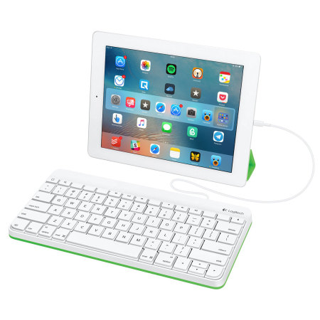 logitech wired ipad keyboard with lightning connector. Black Bedroom Furniture Sets. Home Design Ideas