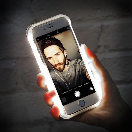 half off 8d5e7 d01d0 Casu iPhone 7 Plus Selfie LED Light Case - Rose Gold