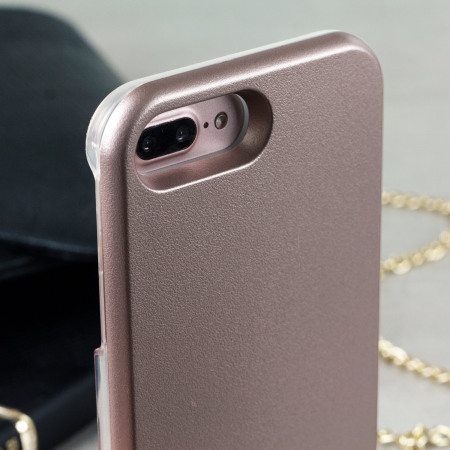 casu iphone 7 plus selfie led light case rose gold