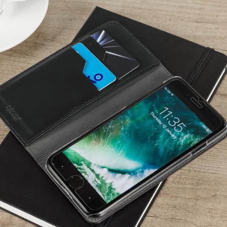 Olixar Genuine Leather iPhone 7 Executive Wallet Case - Black